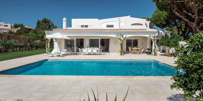 Swimming Pool outside the Luxury Private Florabella Villa in Algarve, Portugal