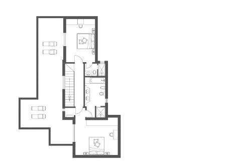 First Floor Plan of Villa Florabella