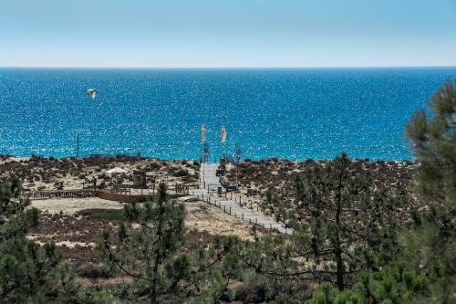 View of Ria Formosa in Algarve Portugal